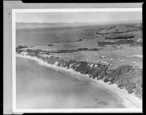 Orere Point, Manukau, Auckland looking towards Firth of Thames and Coromandel Peninsula in the distance