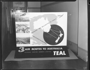 Display for Tasman Empire Airways Limited for three air routes to Australia