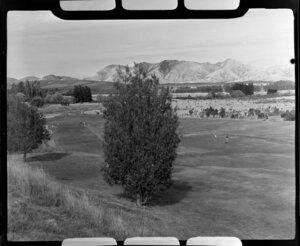 Golfers on the links, Hanmer Springs, Canterbury