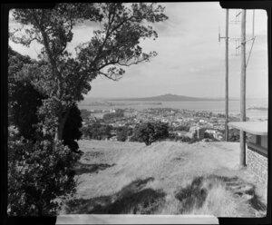 Mount Eden, Auckland, looking towards Rangitoto Island