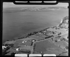 Mellons Bay, Manukau, Auckland, showing Beachlands in the distance