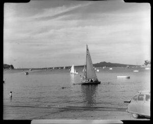 Yachting at Okahu Bay, Auckland