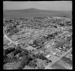 Takapuna, Auckland, showing Rangitoto Island in the distance