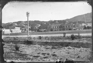 Wellington, showing Supreme Court, houses on The Terrace, and buildings on Lambton Quay