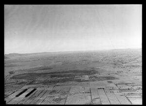 Hauraki Plains, Hauraki District, showing view over farmland