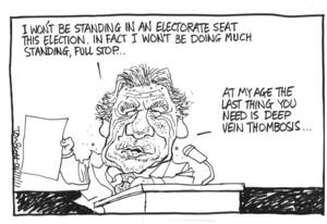 Scott, Thomas, 1947- :'I won't be standing in an electorate seat this election...' 4 November 2011