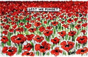 Evans, Malcolm Paul, 1945- :'Least we forget.' 11 November 2011.