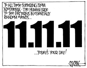 Winter, Mark 1958- :To all those suffering from 'Apophenia'... 11 November 2011.