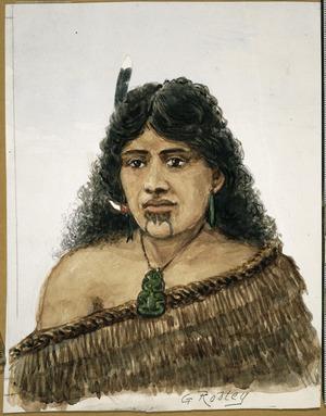Robley, Horatio Gordon, 1840-1930 :[Maori woman] / G. Robley. [1863 or 1864?]