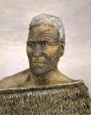 Robley, Horatio Gordon 1840-1930 :Tuterei Karewa chief of the Ngatimaru tribe. [1890s].