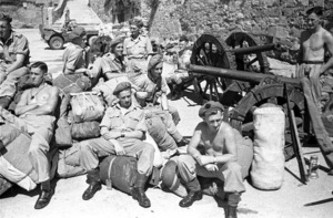 New Zealand soldiers in the Castle of San Guisto, Italy, World War 1939-1945