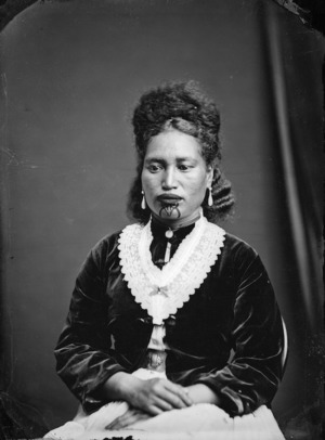 Maori woman from Hawkes Bay district