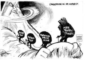 Evans, Malcolm, 1945- :Congestion on Mt Motorist. New Zealand Herald, 30 May 2003.