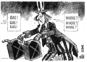 Evans, Malcolm, 1945- :Gas! Gas! Gas! Where? Where? Where? New Zealand Herald, 31 March, 2003.