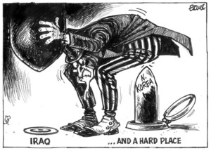 Evans, Malcolm, 1945- :Iraq... And a hard place. New Zealand Herald, 27 February, 2003.
