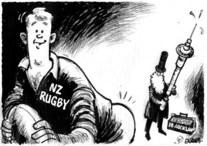 Evans, Malcolm, 1945- :[Auckland injects hope into N Z rugby] New Zealand Herald, 28 October, 2002.