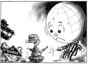 Evans, Malcolm, 1945- :G.I. George. New Zealand Herald, 26 December, 2002.