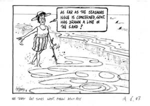 """""""As far as the seashore issue is concerned, Govt. has drawn the line in the sand!"""" 19 August, 2003"""