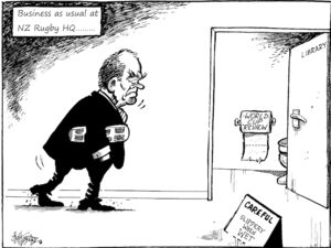 'Business as usual at NZ Rugby HQ......' 18 April, 2008