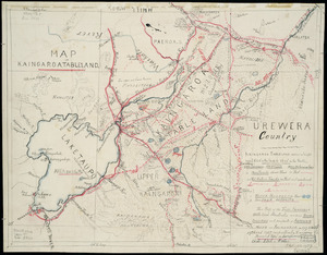 Hill, Henry Thomas, 1849-1933 :Map of Kaingaroa tableland [ms map]. H. Hill, 1926-1927
