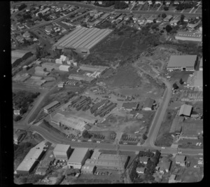Unidentified factories in industrial area, Auckland
