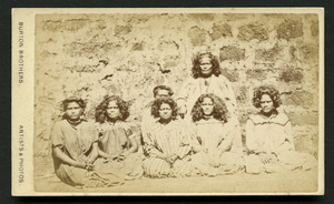 Burton Brothers (Dunedin) fl 1868-1896 :Portrait of [Maori] Queen and maids of Honour