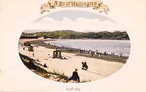 [Postcard]. A bit of Wellington. Lyall Bay. [ca 1910].
