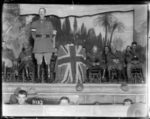 Sir Alexander John Godley speaking on the third anniversary of the beginning of the war