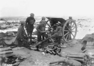 New Zealand Artillery, New Years Day, The Butte, Belgium