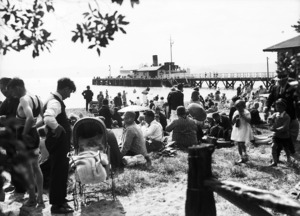 People on the beach at Days Bay, Lower Hutt