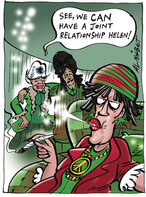 """See, we can have a joint relationship Helen!"" 19 August, 2005"