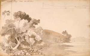 [Ashworth, Edward] 1814-1896 :Orakei Bay near Auckland. [1842?]