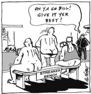 Nisbet, Alistair, 1958- :'On ya go Bill! Give it yer best!' Christchurch Press ca. 18 August 2002.