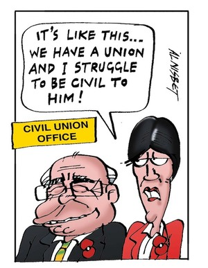 "Civil Union Office. ""It's like this... We have a union and I struggle to be civil to him!"" 10 May, 2006"