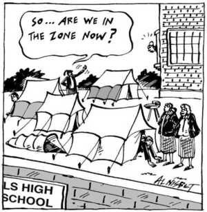 Nisbet, Alistair, 1958- :'So...are we in the zone now?' Christchurch Press. 7 August, 2002.