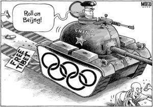 """Roll on Beijing!"" 17 March, 2008"