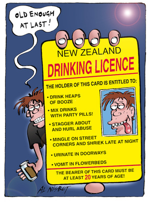 """""""Old enough at last!"""" New Zealand Drinking Licence. 10 June, 2005"""