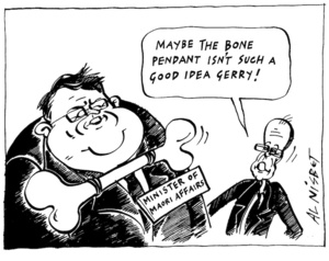 """Maybe the bone pendant isn't such a good idea Gerry!"" 16 February, 2004"