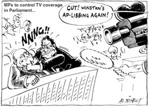"MPs to control TV coverage in Parliament...""Cut! Winston's ad-libbing again!"" 18 March, 2005"
