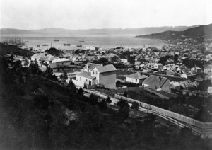 View of Te Aro, from the Terrace Gaol, Wellington