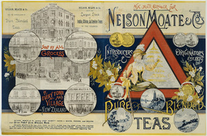 Ask your grocer for Nelson Moate & Co's pure blended teas. [1882].