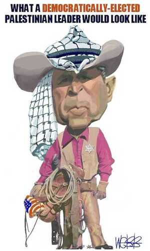 Webb, Murray, 1947- :What a democratically-elected Palestinian leader would look like. 27 June, 2002.