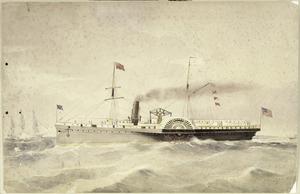 Artist unknown :C & N. Z. mail steamer Nebraska, 2640 tons. [1870s?]