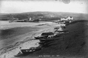 Photograph of the village of Mid-Yell, Shetland