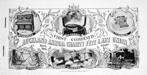 First combined Auckland annual charity fete & art union, Sept[ember] 1905. [Book of tickets. Cover].
