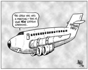 "National Party. ""The crew has had a meeting - this is your NEW captain speaking."" 29 October, 2003"