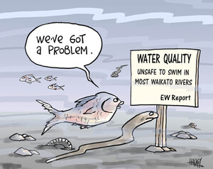 "Water quality - unsafe to swim in most Waikato rivers. EW Report. ""We've got a problem."" 11 September, 2008"