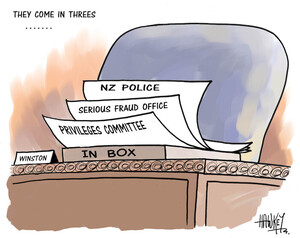 They come in threes... NZ Police, Serious Fraud Office, Privileges Committee. 9 September, 2008