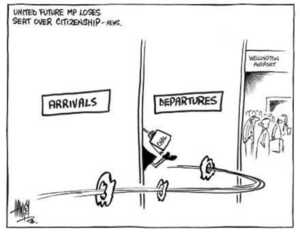 Hawkey, Allan Charles, 1941- :Arrivals / Departures. Waikato Times, 14 August 2002.