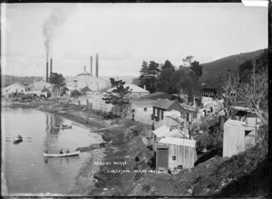 Cement works at Limestone Island, Whangarei Harbour